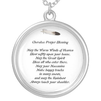 Cherokee Prayer Silver Plated Necklace