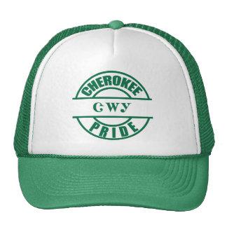 Cherokee Pride - Green Trucker Hat