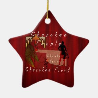 cherokee proud ceramic ornament