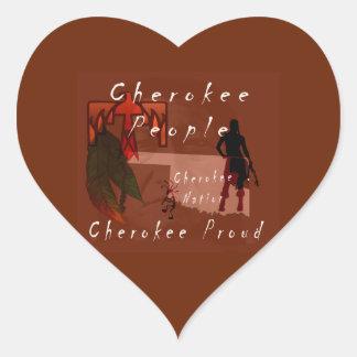 cherokee proud heart sticker