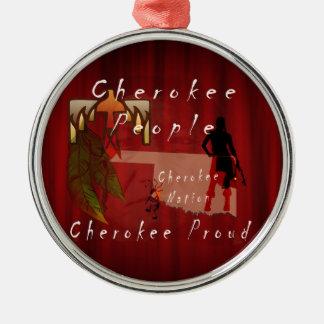 cherokee proud metal ornament