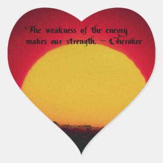 Cherokee Proverb Heart Sticker