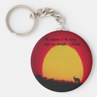 Cherokee Proverb Keychain
