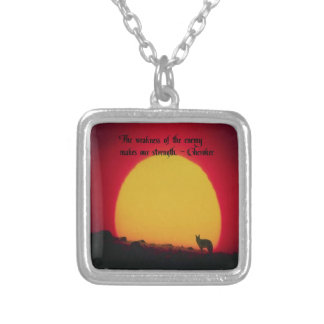 Cherokee Proverb Silver Plated Necklace