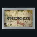 """Cherokee Rectangular Belt Buckle<br><div class=""""desc"""">Cherokee customizable buckle by danieljm</div>"""