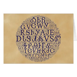 Cherokee Syllabary Cloud Note Card