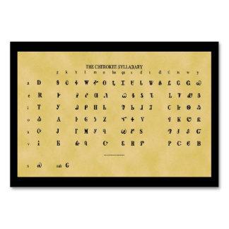 Cherokee Syllabary Flat Card