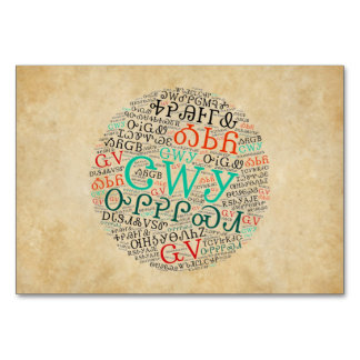 Cherokee Syllabary Parchment Look Flat Card