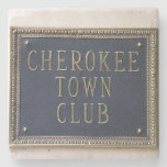 Cherokee Town Club Buckhead Atlanta Marble Stone C Stone Coaster