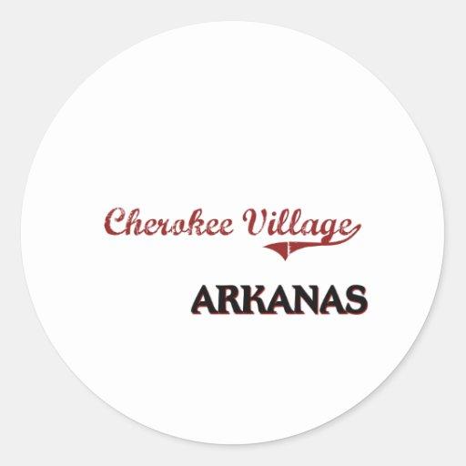 Cherokee Village Arkansas City Classic Classic Round Sticker