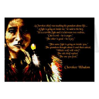 Cherokee Wisdom Greeting Card