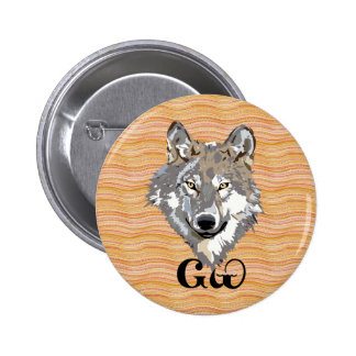 Cherokee Wolf Lover Button
