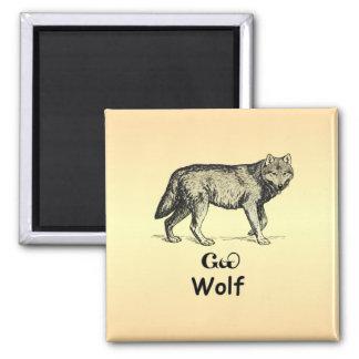 Cherokee Wolf Magnet