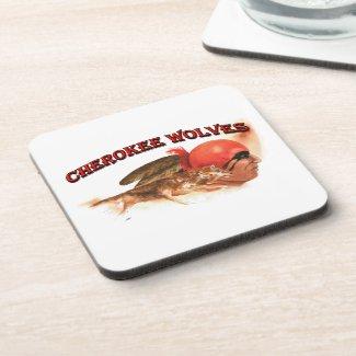 Cherokee Wolves Beverage Coaster