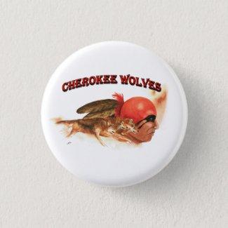 Cherokee Wolves Button