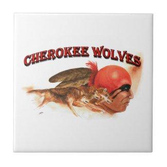 Cherokee Wolves Ceramic Tile