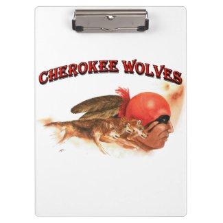 Cherokee Wolves Clipboard