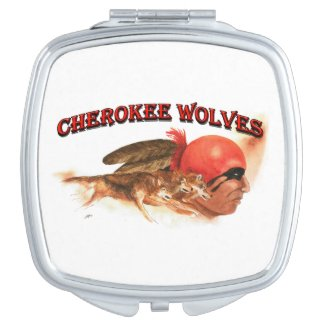 Cherokee Wolves Compact Mirror