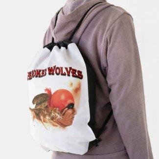 Cherokee Wolves Drawstring Bag