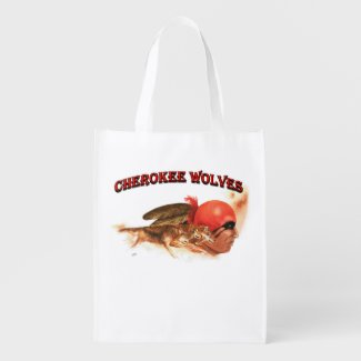 Cherokee Wolves Grocery Bag