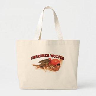 Cherokee Wolves Large Tote Bag