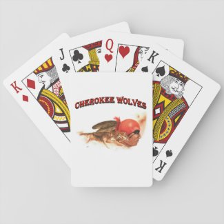 Cherokee Wolves Playing Cards