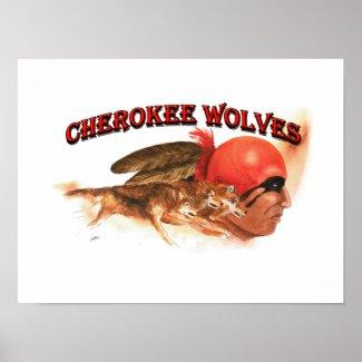 Cherokee Wolves Poster