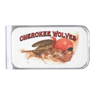 Cherokee Wolves Silver Finish Money Clip