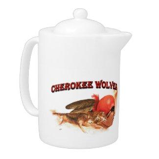 Cherokee Wolves Teapot