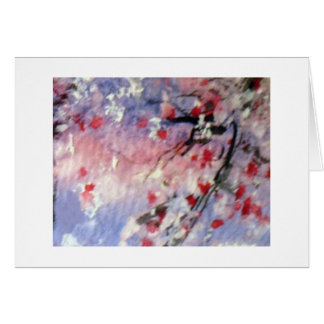 Cherri blossoms thank you note card