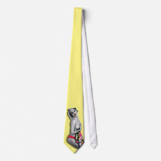 Cherrie Au Lait Sexy Retro Pinup Girl Tie