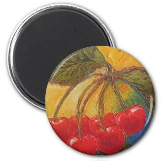 Cherries 2 Inch Round Magnet