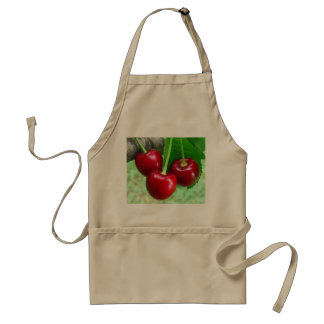 cherries adult apron