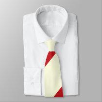 Cherries and Cream Broad Regimental Stripe Tie