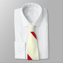 Cherries and Cream Broad University Stripe Neck Tie
