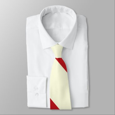 Beach Themed Cherries and Cream Broad University Stripe Neck Tie