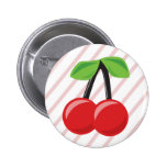 Cherries and Stripes Button