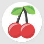 Cherries and Stripes Sticker