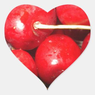 Cherries Art Photo Heart Sticker