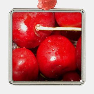 Cherries Art Photo Metal Ornament
