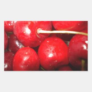 Cherries Art Photo Rectangular Sticker