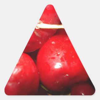Cherries Art Photo Triangle Sticker
