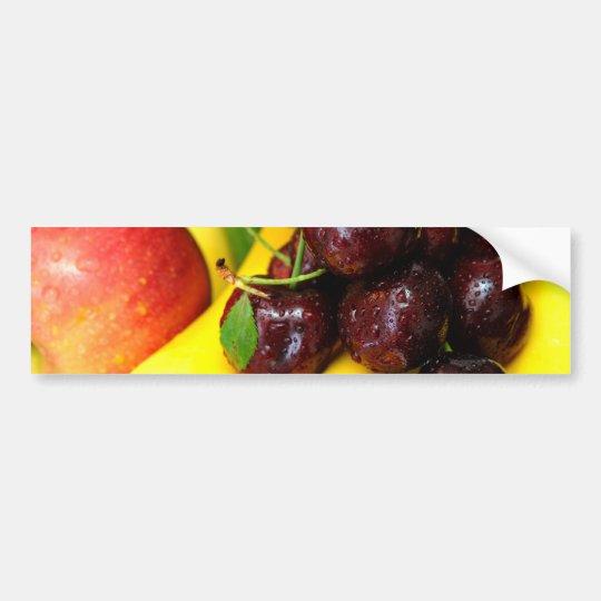 Cherries Bananas And Apples Bumper Sticker