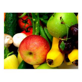 Cherries Bananas And Apples Post Card