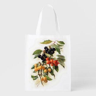 Cherries Botanical Print Market Totes
