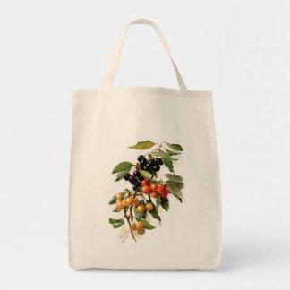 Cherries Botanical Print Tote Bag