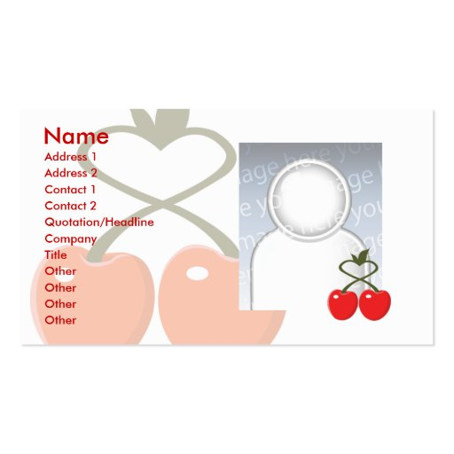 Cherries - Business Double-Sided Standard Business Cards (Pack Of 100)