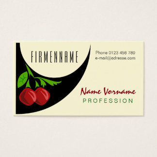 cherries business card