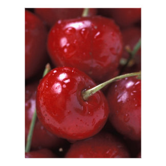 Cherries cherry fruit food snacks letterhead