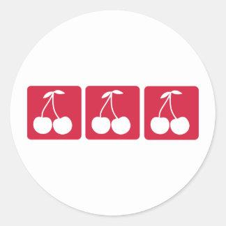 Cherries Classic Round Sticker